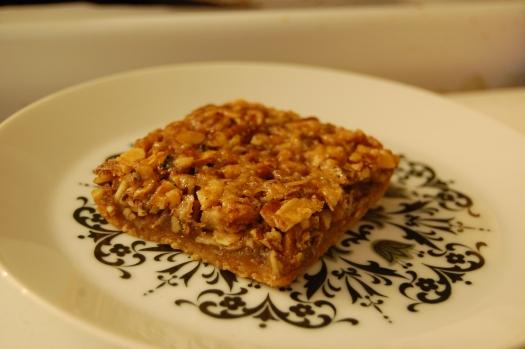 honey walnut bars